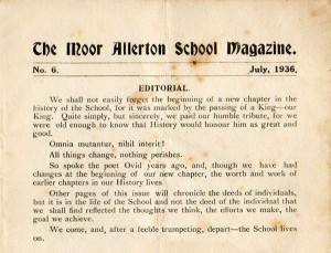 1936 School Magazine Excerpt